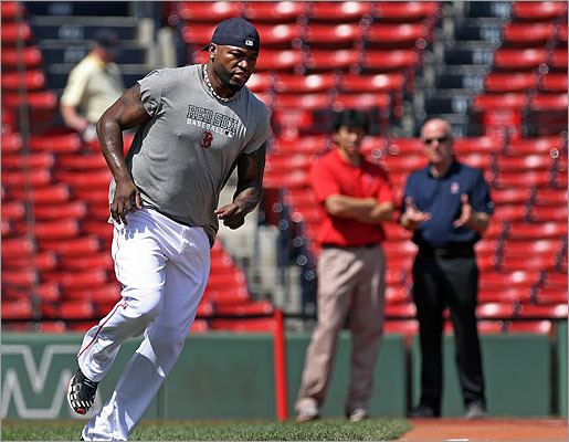 After working out at Progressive Field prior to Saturday's game, designated hitter David Ortiz acknowledged that he would not be able to return to the Red Sox lineup for Sunday's game.