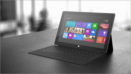 The Surface with Windows RT, which is meant for consumers, will come in three prices. A higher powered version will be available in a few weeks. A 32GB version for $499, a 32GB version with a black touch cover for $599, and a 64GB for $699.