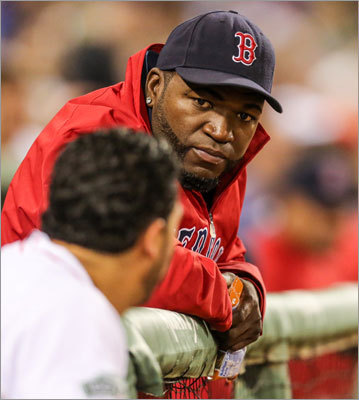 David Ortiz The Red Sox designated hitter suffered an Achilles tendon injury in July of 2012 and, after a brief return, missed the rest of the season with the injury. Ortiz was off to a great start to the year, hitting 23 home runs in 90 games before getting hurt. The Red Sox re-signed him to a two-year contract in the offseason in the hopes that Ortiz returns to his pre-injury numbers in 2013.