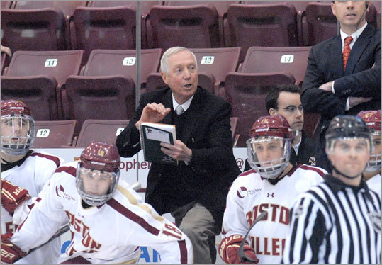 When Boston College defeated Alabama-Huntsville, 5-2, on Saturday at the Mariucci Classic in Minneapolis, Boston College hockey coach Jerry York became the career leader in NCAA Division 1 hockey victories. York, who graduated from Boston College in 1967, has 925 victories to pass Ron Mason for the record. York has led BC to the NCAA men's hockey national title five times. Scroll through the gallery to see which other Boston sports figures hold major records in their sports.