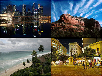 Top destinations for 2013