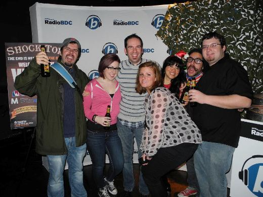 RadioBDC Fans with Adam12 infront of the RadioBDC and Shock Top Step & Repeat. To tag yourselves in photos visit the RadioBDC facebook page!