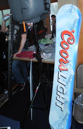 Coors Light hooked up one lucky winner with a Coors Light Snowboard!