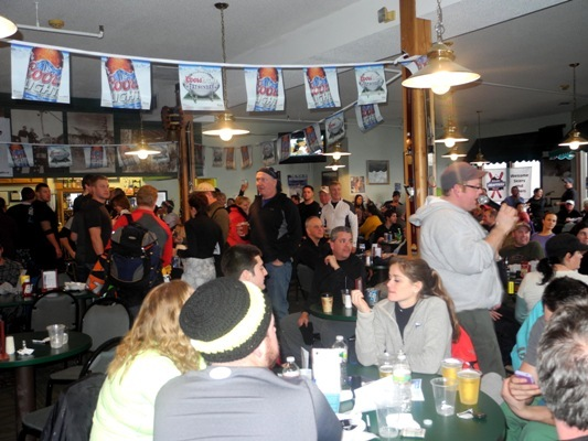 Full house at The Wildcat Pub.