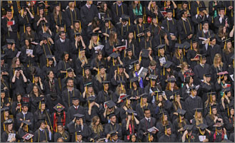 Scenes from 2013 college graduations