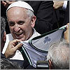 Minority owner gives Celtics jersey to Pope Francis