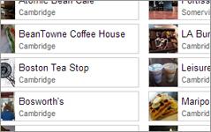 Rank Cambridge, Somerville coffee shops
