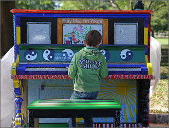 Play Me I'm Yours street pianos across Boston