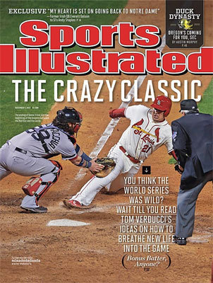 Jarrod Saltalamacchia The Red Sox catcher was featured on the cover during what would turn out to be a classic World Series.