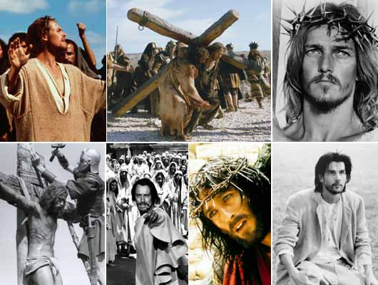 The greatest story, retold: (clockwise from above) Mel Gibson's 'The Passion of Christ' (2004) is already contoversial. 'Jesus Christ Superstar' (1973) entertained even when it didn't inform. 'Jesus of Montreal' (1989) is a contemporary take on the Passion. The 'Jesus of Nazareth' miniseries (1977) showed an awareness of relgious sensitivities. 'The Greatest Story Ever Told' (1965) got terrible reviews. Some called 'The Last Temptation of Christ' (1988) blasphemous.