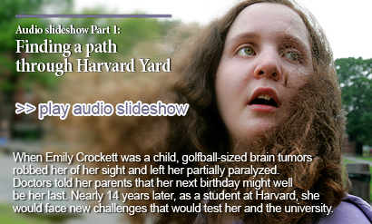 Emily's Story: Finding a path through Harvard Yard (Audio slideshow)