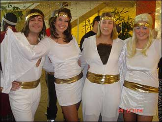 to celebrate our companys swedish heritage we dressed as abba and danced
