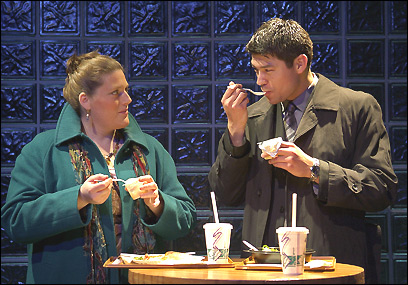 Liliane Klein, as Helen, and James Ryen, as Tom, star in SpeakEasy's ;Fat Pig'