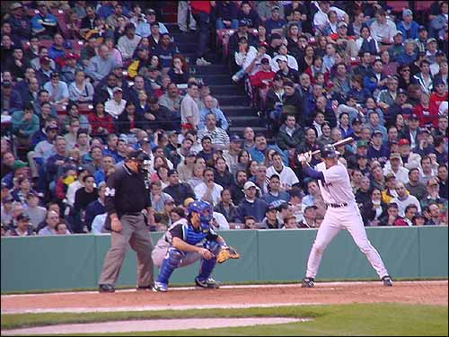Nomar stands in against Kansas City pitching. (Photo submitted by Jim Gardner)