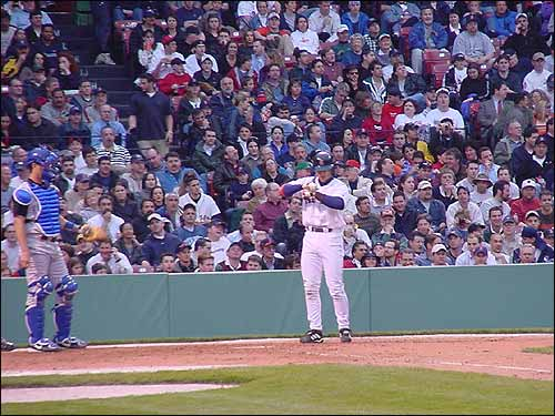 Nomar engages in his post-pitch ritual in a game vs. KC two years ago. (Photo submitted by Jim Gardner)