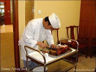 You don't want to miss the Peking duck if you are in Beijing. It is delicious.