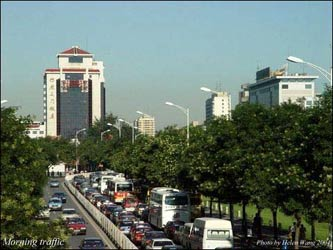 Beijing's rush hour is about the same as Boston.