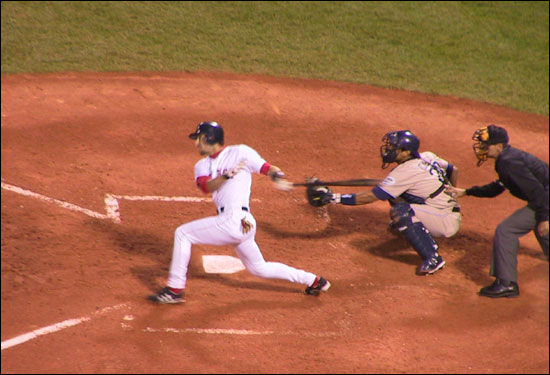This user captured Nomar Garciaparra's first hit of the 2004 season, a double against the Padres on June 10.