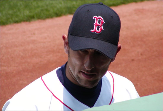 This super close-up of Nomar was taken on his birthday in 2002 (July 23). He'd go on to hit three homers in that game.