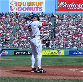 Say what you will about Nomar, but deep down we'll certainly miss his routine at the plate, which includes the tightening and re-tightening of his batting gloves.