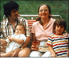 The Hyett family in 1974.