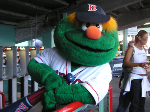 "The furry creature who goes by the name ""Wally"" took a break from the hot sun to strike the pose for Boston.com."
