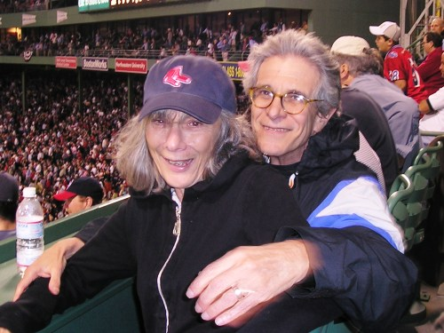 Ilene and Leslie Epstein are the parents of this guy Theo who they say runs the Red Sox. Leslie, who heads the creative writing department at Boston University, doesn't care about who the Sox play next 'as long as Kerry wins the debate.'