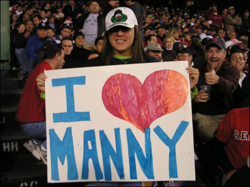 "Mara from Newton has a soft spot for a Sox slugger, saying Manny Ramirez ""always has a smile on his face."" We're wondering if Manny's still grinning after Saturday's debacle."