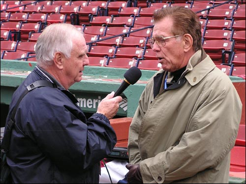FOX announcer Tim McCarver, who raises the ire of many fans, talks about the ALCS drama with a reporter.