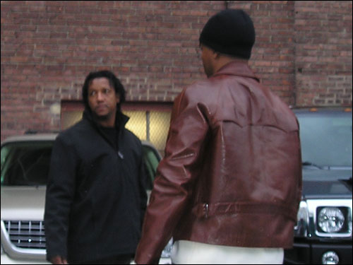 Pedro Martinez arrives at Fenway Park before Saturday's game. He'll start Game 3 on Tuesday.