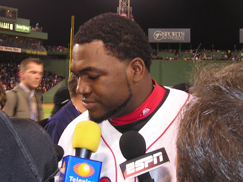 David Ortiz continues to carry the Red Sox. He hit another home run, a hugh 3-run bomb to put the Sox on top early. Big Papi will need his glove in St. Louis. Let's hope he performs better than he did the last time he played first base.