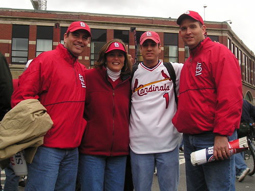 Brian from Charlotte, NC, Dan Hope and Tom and Cindy Dolan say the Cardinals led the league in quality starts.