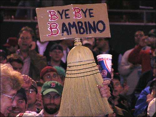 In taking care of the Cardinals in a four-game sweep, no longer will Red Sox fans be haunted by the Curse of the Bambino.