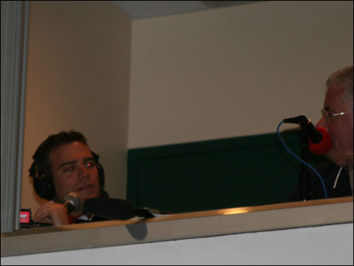 Sox GM Theo Epstein made the broadcast rounds during the game last night by sitting down with radio broadcasters Jerry Trupiano and Joe Castiglione, then moving over for a short stint with the NESN crew.