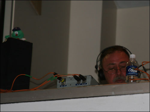 Popular Sox broadcaster Jerry Remy was back in the NESN booth last night along with his familiar sidekick Wally. Yes, there was room in the booth for play-by-play man Don Orsillo as well.