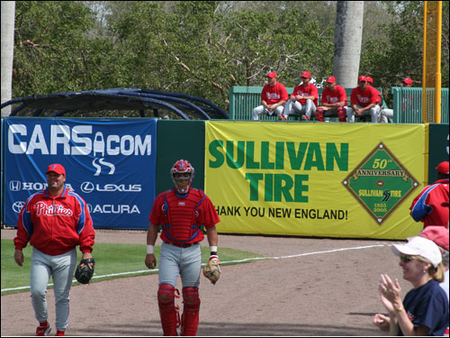 The Philadelphia Phillies came into Fort Myers to battle the Red Sox yesterday. While the National Leaguers jumped out to an early lead, the World Series Champs prevailed with a 5-4 win.