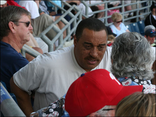 Former Celtics star Dennis Johnson was at the park to root the Red Sox to victory on Sunday. DJ's also excited about his former team's resurgent play back up north.