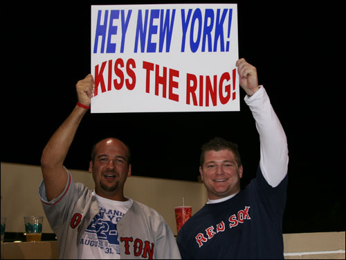 The rings are the thing as Nick from Reading and Eric from Charlestown want the Yankees to give them a big kiss. The Red Sox World Series rings will be handed out at Fenway Park before the home opener on April 11.