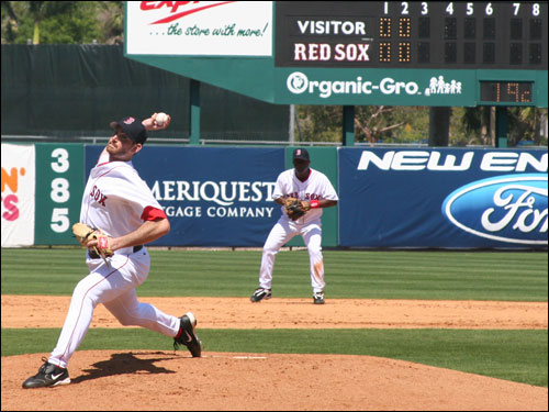 Matt Clement started strong for the Sox but gave up three runs in his fourth inning of work.