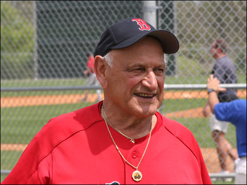 Longtime Red Sox instructor Frank Malzone is still an active figure around the training complex on Edison Ave.