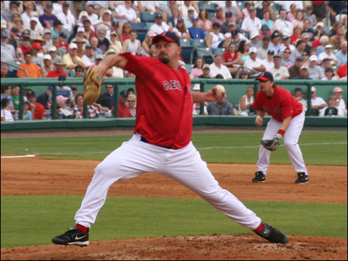 While Opening Day starter David Wells was happy to get his work in and his pitch count up, he was knocked around for 11 hits and six runs in the rain-shortened loss to Baltimore.