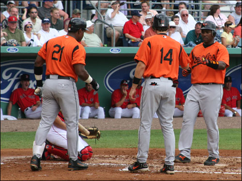 Miguel Tejada, who most consider to be the best shortstop in the American League, blasted a two-run homer off David Wells in the third inning that put the O's on top to stay.