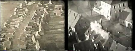 Scenes captured from the nose camera of Colonel George T. Lee's P-47 fighter plane provide a rare glimpse at World War II skirmishes seen by Norwood's most decorated flying ace.