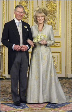 The Clarence House today released the official wedding photos of Prince Charles and Camilla, Duchess of Cornwall. The couple poses in the White Drawing Room at Windsor Castle.