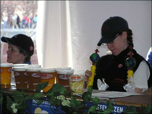 Of course, many runners still took advantage of some of the libations on hand, courtesy of Harpoon.