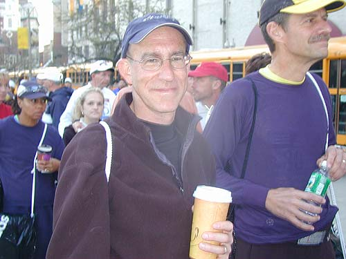 This is the fourth Boston Marathon for Marshall Grossman, 48, from East Grandy, Connecticut. His advice to other runners: savor the day because it's the best course and the best crowds.