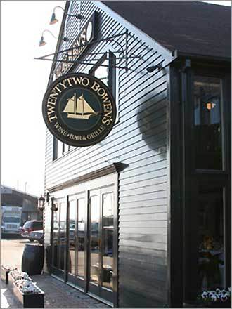 22 Bowens Wine Bar and Grille is the best restaurant in the area. Although pricey, the steak is prime quality and the seafood is also a great option. Tremendous selection of wine too. Enjoy. - Jake, Salem, MA