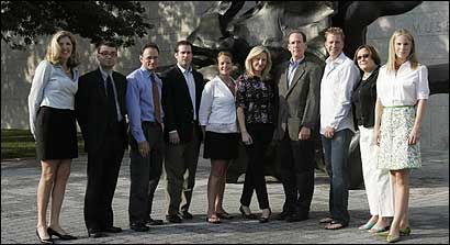 The men and women pictured above are members of the MFA's Museum Council. From left: Kimberlea Tracey, Bill Pirl, Mark Dolny, David Anderson, Heather Gebbia, Anne Clark, Mark Tracy, Stephen Sheffield, Susan Kaplan, and Francesca Piper.