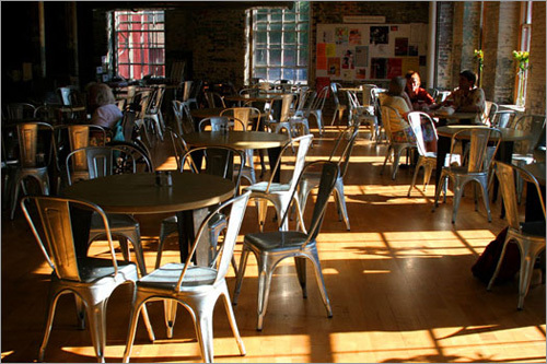 MassMoCA features two restaurants: Lickety Split Cafe (pictured), which serves breakfast and lunch, and Cafe Latino, a full service restaurant that serves lunch and dinner.