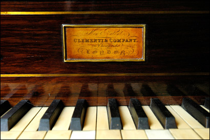 More photos of Richard Marcus's piano collection